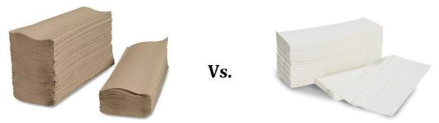 recycled content paper towels vs. virgin paper towels
