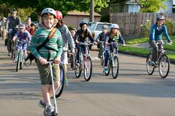 Students Bike and Scoot to School