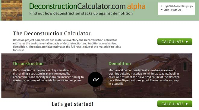 image of Deconstruction Calculator