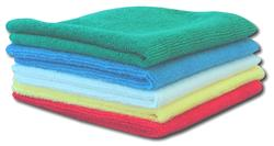 stack of microfiber cloths