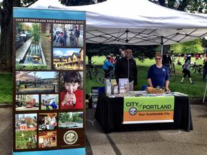 """Your Sustainable City"" booth"