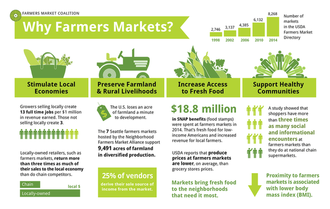 farmers market infographics