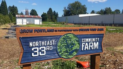 the new Oregon Food Bank Farm