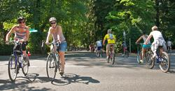 People riding bikes at Sunday Parkways