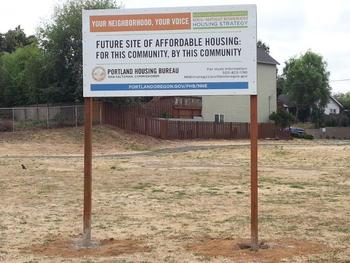 Grant Warehouse Site Sign