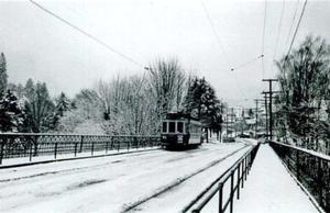 Thurman Street bridge with trolley