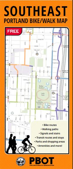 Southeast Portland Bike/Walk Map | Bike + Walk Maps | The City of ...