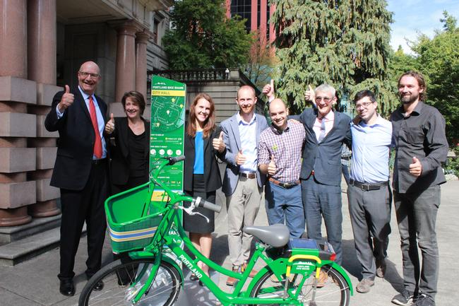 PBOT staff and bike share project partners