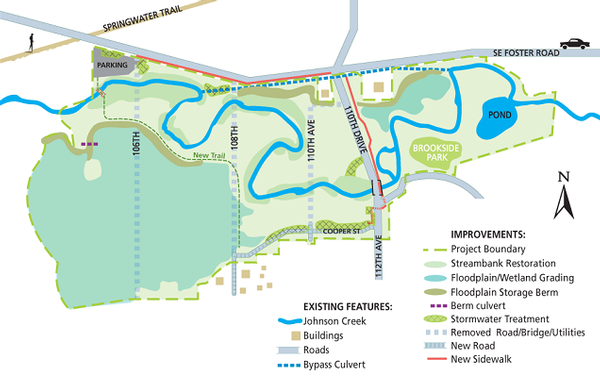 Foster Floodplain Natural Area map