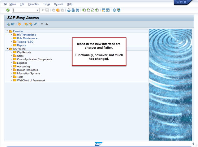 SAP 7.40 Graphical User Interface Update