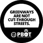 greenways are not cut-through streets