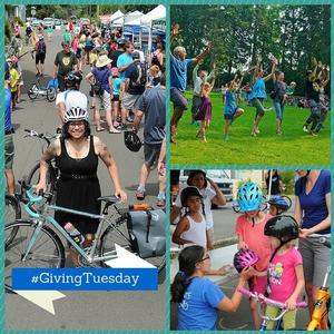 People enjoying activities at Sunday Parkways
