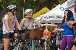 Women on bikes at Sunday Parkways
