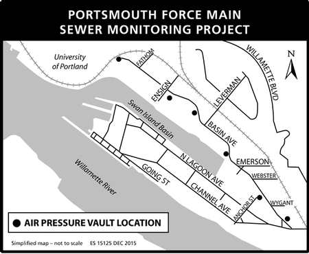Portsmouth Force Main Project Map