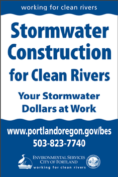 stormwater construction sign art
