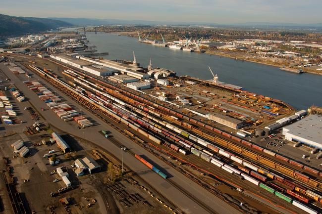 Port of Portland aerial image