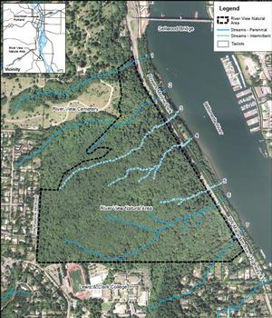 aerial map of River View Natural Area