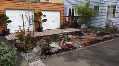 apartment courtyard rain garden