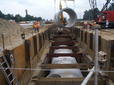Columbia Slough Big Pipe construction