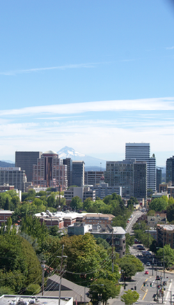 View of downtown Portland