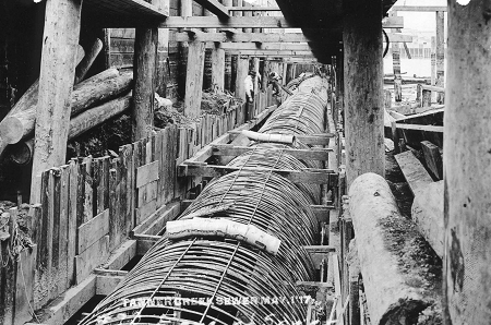 1917 Tanner sewer construction