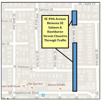 Street closure due to water main work