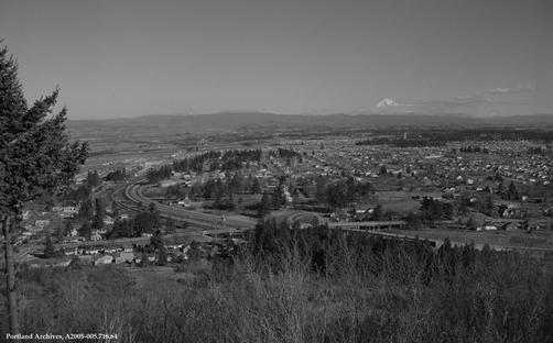 panorma rocky butte