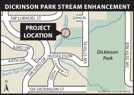 Dickinson Park project map