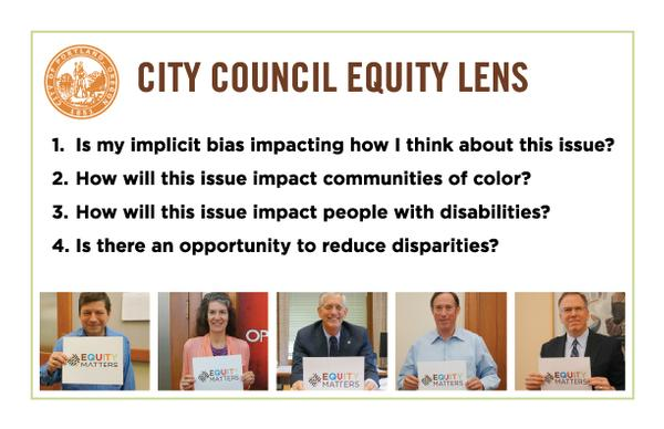 Picture of Council Equity Lens (text below picture)