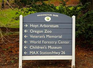 Photo of Washington Park sign