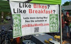 bike month sign