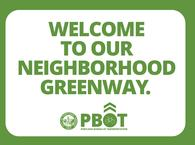 welcome to our neighborhood greenway