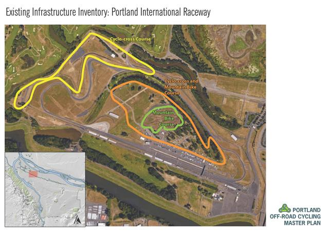 Portland International Raceway trail map