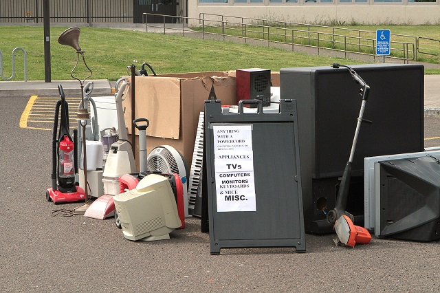 Collection of electronics to be disposed