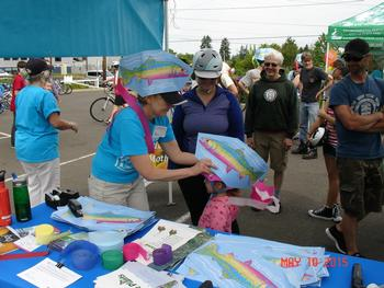 Fish hats at East Portland Sunday Parkways