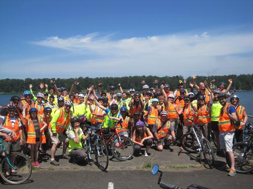 2015 Cycle the Wellfield group photo