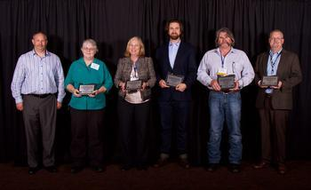 Staff accepts Concrete Award