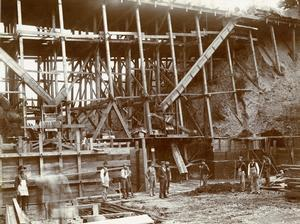 Reservoir 3 construction, 1894