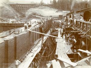 Reservoir 4 Construction, 1894