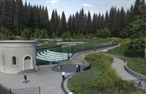 New Construction Rendering - Upper Reflecting Pool at Gate House 3
