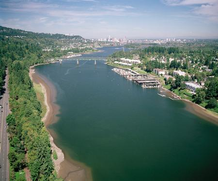 Willamette River from Sellwood Bridge