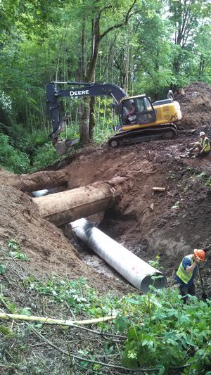 Installation of new culvert