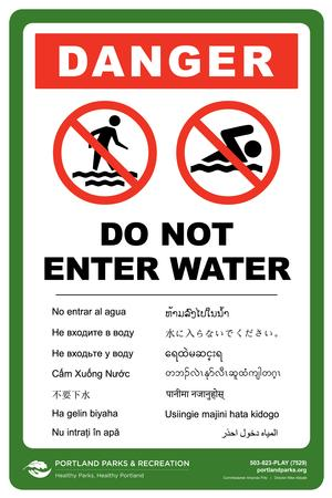 Do not enter water sign