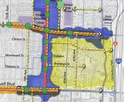 Planned street circulation in Jade District