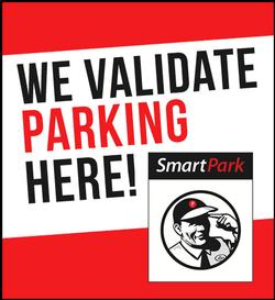 Smart Park We Validate Here widow cling