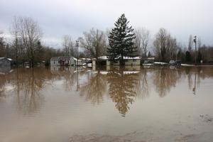Johnson Creek wintertime flood