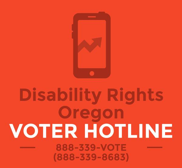 DRO Voting Hotline poster