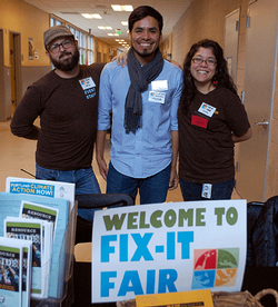 Fix-It Fair volunteers