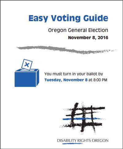 Graphic of DRO Easy Voter Guide Booklet.