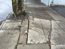 buckling sidewalk